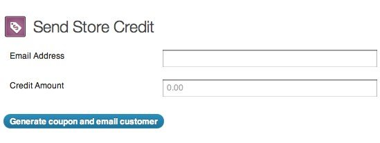 Send credit to a customer