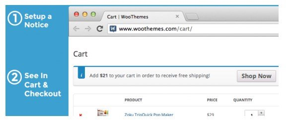 WooCommerce Cart Notices in Action