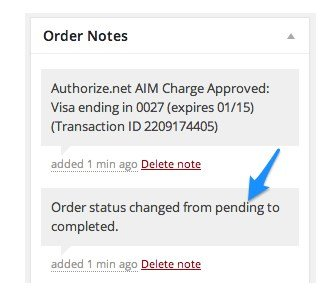 Order Status Auto-Completed
