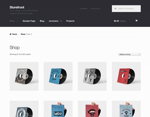 Customise the product archives